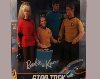 Star Trek Barbie and Ken Gift Set/Vintage Barbie and Ken/Vintage Barbie/Star Trek Collectible/Star Trek TV Show/Barbie Collectible