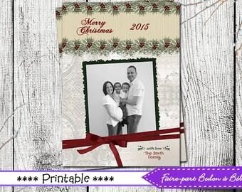Photo Greeting card   - Photo Holiday card - Greeting card - Holiday card - Digital printable