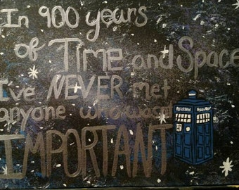 Doctor Who 10th Doctor Galaxy Painting