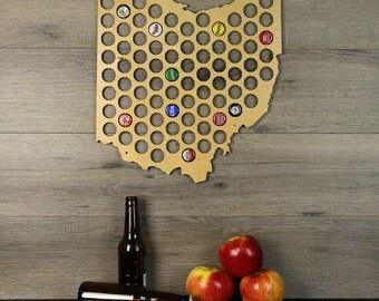 Ohio Beer Cap Map, Beer Cap Holder, Beer Cap State Map, Cap Map, Beer Cap Maps, Beer Cap Holders, Craft Beer State Map, Beer Lovers