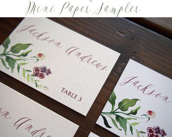 Reserved Listing for Mini Paper Samples with Priority Shipping