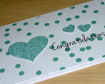 Congratulations card - Wedding engagement anniversary new baby shower graduation new home -handmade card