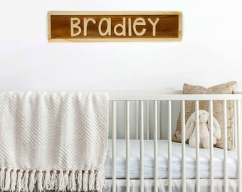 kids room name sign - personalized Wood Sign wood block nursery decor