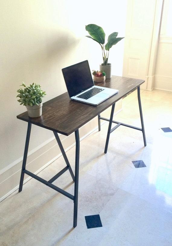 long desk narrow desk long narrow desk wooden by goldenrulenyc