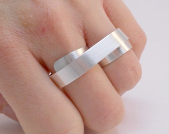 Sterling Silver Two Finger Ring