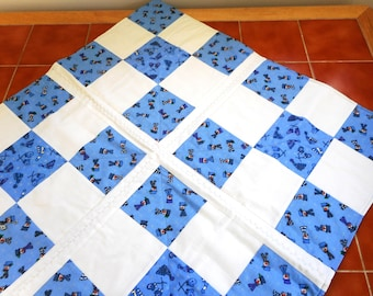 Quilted Christmas Table Topper, Tablecloth, Snowmen