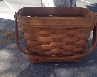 Longaberger SIGNED Collector Handmade Tour Basket Longaberger Basket