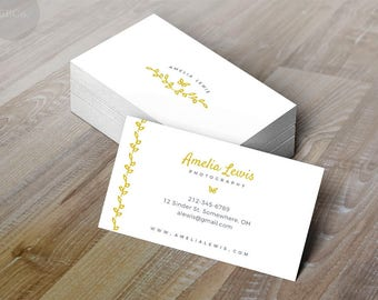 Sprigs and Butterflies: Elegant Business or Calling Card,Photographer,Boutique, Writer,Blogger,Spa Nail skin care,Soap Maker,Jewelry Maker