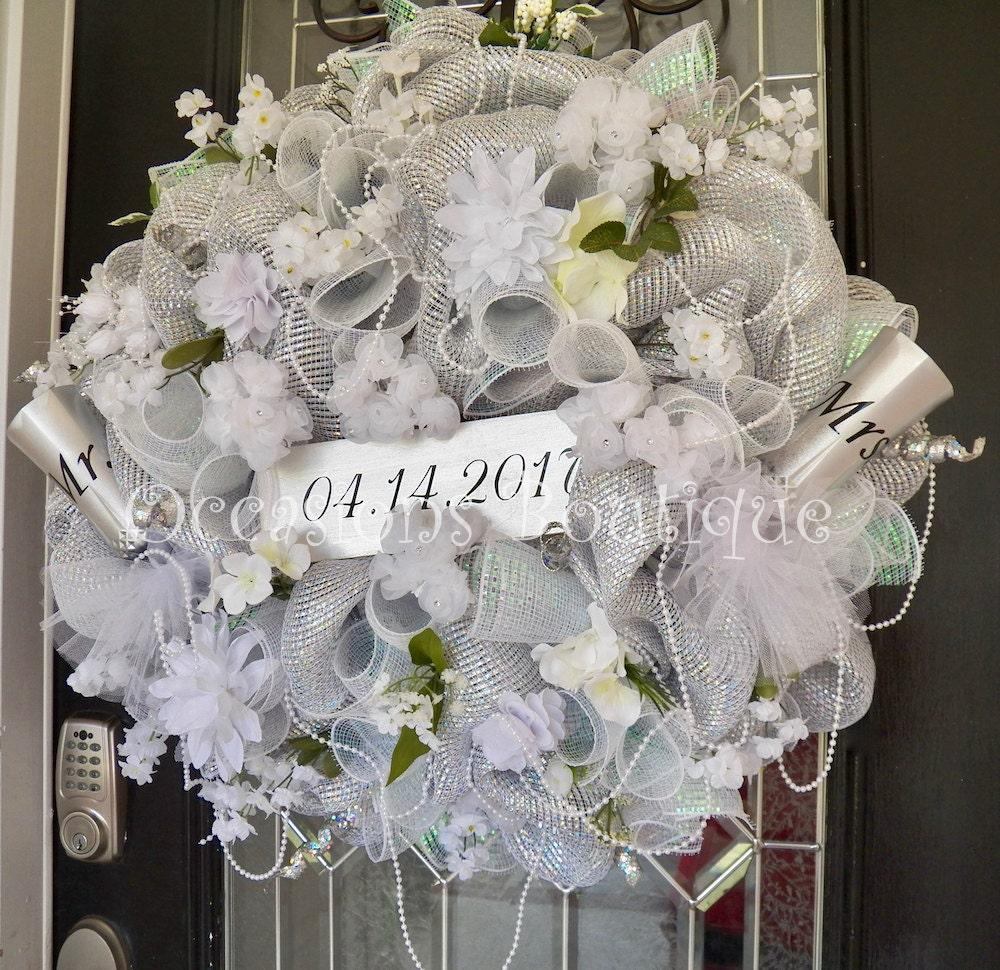 Wedding Door Decorations Ideas: Wedding Wreath Wedding Decoration Bridal Shower Decoration