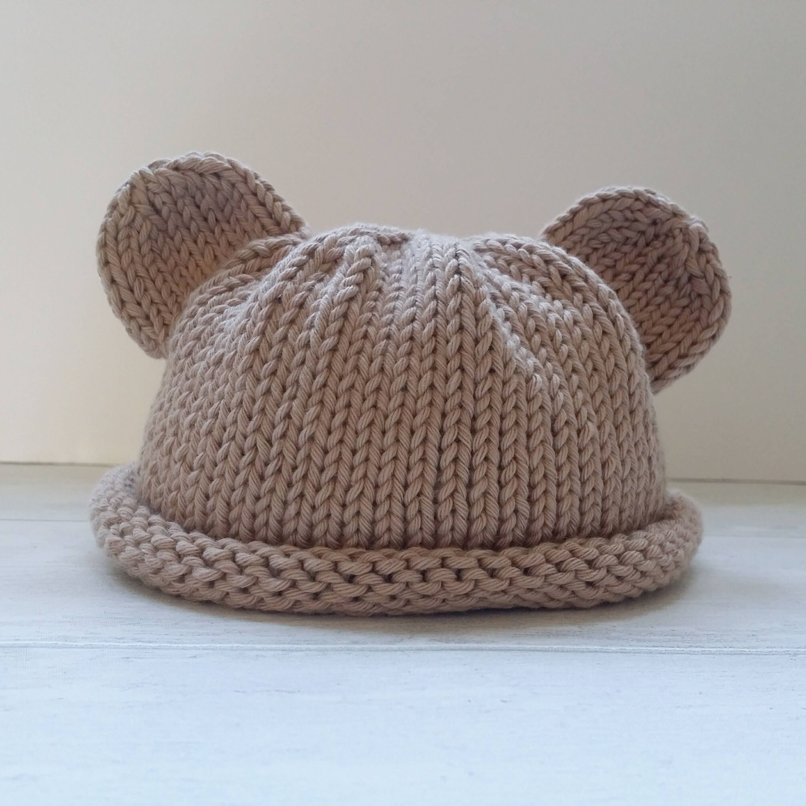 Baby hat pattern baby bear hat knitting pattern new born baby this is a digital file bankloansurffo Gallery