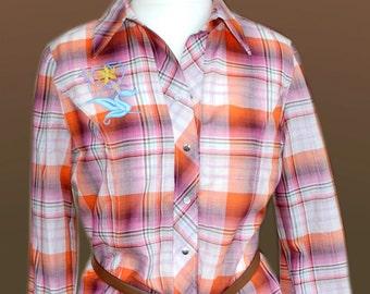 Plaid blouse Scotland. Gr. 40