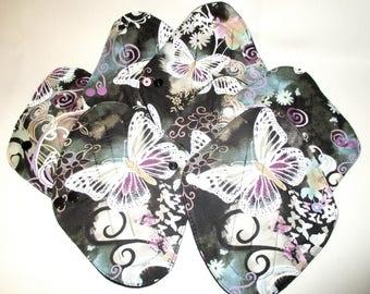 RTS Beautiful Butterfly Regular Flow  Medium Moderate Flow Pad Handmade Cloth Mama Moma Momma  Pad