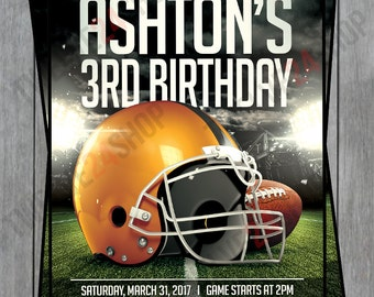 Football Birthday Invitation - Football Birthday Party