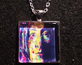 John Lennon inspired pendant