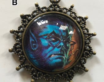 X-Men Jewelry Pendant Necklace - Beast/Kitty Pryde/Rogue/Colossus/Scarlet Witch - Marvel