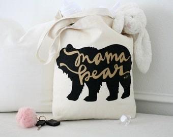 Mama Bear, Mama Bear Bag, Mom Life, #momlife, Mom Bag, Mom tote bag