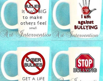 Anti-Bully Mugs - cyber bullies - stop bulling