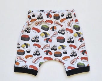 Sushi Roll Baby Harem Shorts