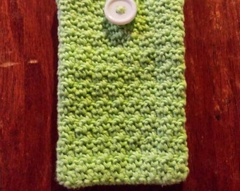 Crocheted Mobile phone case.