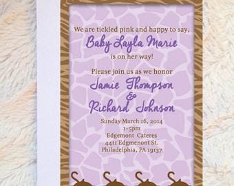 Cocalo Jacana Baby Shower Invitation - Cocalo Jacana Baby Shower Theme - Cocalo Jacana Invitation