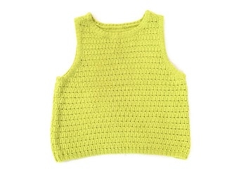 Vintage Lime Green Knit Tank