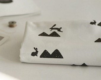 Cotton Fabric Rabbit By The Yard