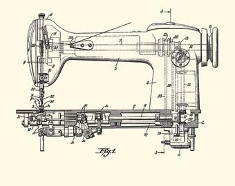 Sewing machine art Patent print sewing print patent poster sewing decor sewing art print Craft Room Decor sewing room decor Tailor gift