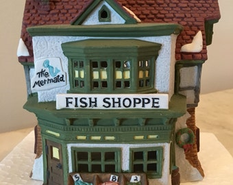 """FREE SHIPPING Dept. 56 """"The Mermaid Gift Shop"""""""