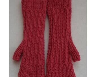 Fingerless Mittens - Rose Pink