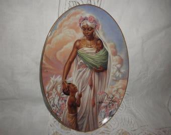 "Plate by Thomas Blackshears Ebony Visions ""Madona"""