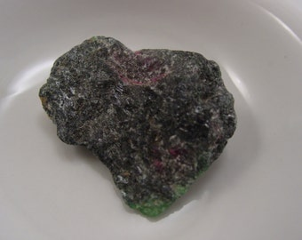Ruby Zoisite Irregular Rough Cut Nugget Mineral Specimen. Un-Drilled, No-Hole! #7514