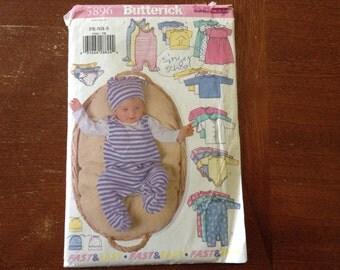 Butterick  pattern 5896  infant boy or girl   uncut