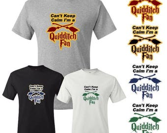 Can't Keep Calm, I'm a Quidditch Fan inspired by Harry Potter T-Shirt Plus Size No Extra Charge