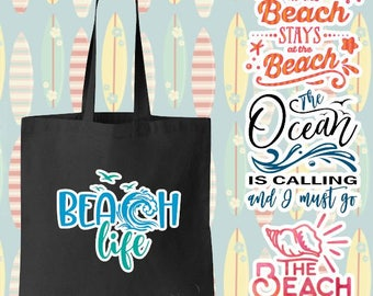 Beach & Ocean Phrase Graphics Tote Bag - Perfect for any Beach/Sea/Water/Ocean Lover