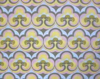 Fabric - Reminisscence past print - yellow - 100% cotton lawn - woven fabric