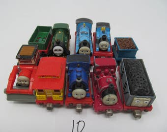 Thomas The Tank Engine Magnetic Train Car Lot of 10