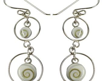Shivaauge Silver earrings rings long earrings 925 Silver Shiva eye eye ladies jewelry (No. OSH - 01).