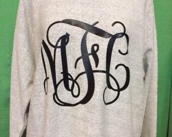 Poodle Fleece sweatshirt with Monogram
