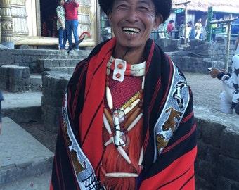 Handwoven Naga blanket, wall hanging
