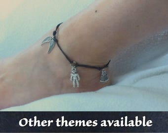 Doctor Who themed cord anklet of your choice.