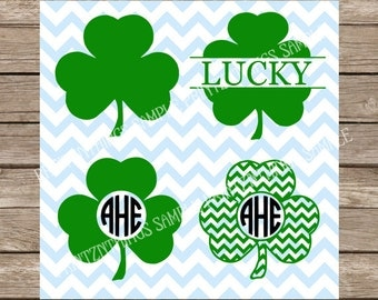 Shamrocks svg Irish svg St Patricks Day svg Ireland svg Four Leaf Clover svg cut file cricut silhouette cameo cutting file svg designs