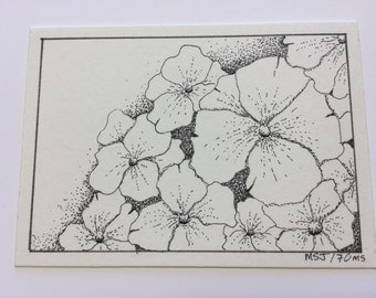 Original pen & ink ACEO by 70ms