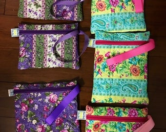 Bridesmaid Quilted bags / cosmetic / toys / toiletries