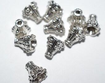 10 - Tibetan Ornate bead caps (3029512)