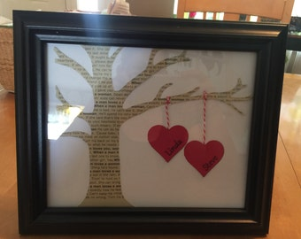 "Order for Melissa's friend  8""x10"" Valentine's Day Tree with ""Your"" Song and Names"