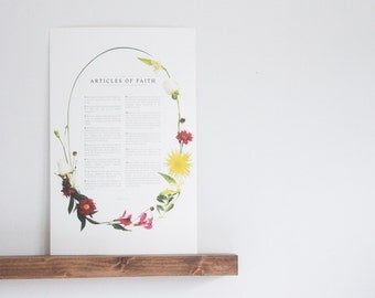 The Articles of Faith  |  Floral  |  Modern LDS Print