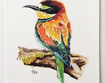 Bird print painting watercolour print watercolor nature prints bird lover gift