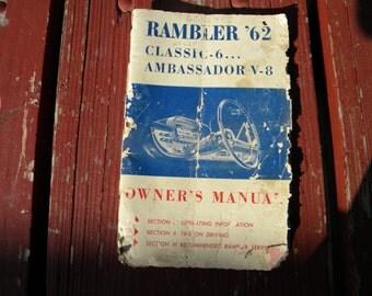 Rambler Ambassador 1962 Original Owners Manual. - Classic 6 : Ambassador V-8.
