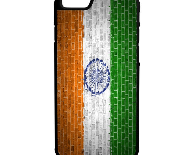 India Brick Wall Flag iPhone Galaxy Note LG HTC Hybrid Rubber Protective Case