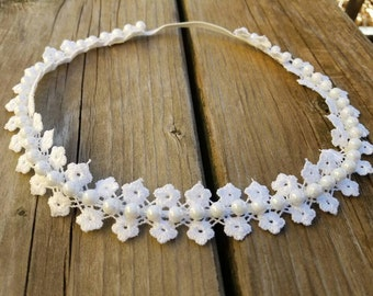 Hair accessory, Girls accessory, White Headband, Valentines Day, Girls Headband, Baby Headband, Lace Headband, Bridal Headband, Photo Prop